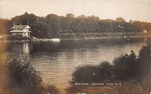 H70/ Marietta Ohio RPPC Postcard c1910 Boat House River  152