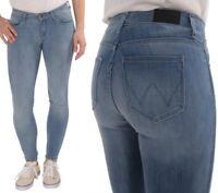 Wrangler Damen Jeanshose Body Bespoke Super Skinny Blau (Summer Lake) W26 - W28