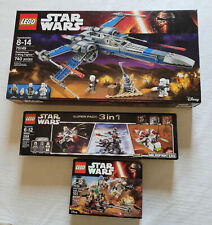 3 Lego Star Wars / 75149 / 66534 / 75133 Excellent Condition Kept in a Showcase