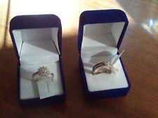 Swarovski & Silver/Gold Rings x 2 (Pair) Size Q NEW/Unworn/BNWT/Boxed (Ref:m-ii)