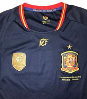 VINTAGE SPAIN NATIONAL TEAM SOCCER JERSEY Men's Large WORLD CUP 2010
