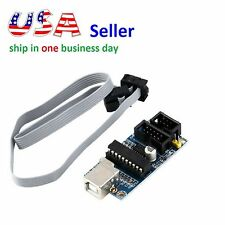 USB Tiny USBtinyISP AVR ISP Programmer + Connecting Cable for Arduino