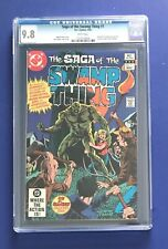 SWAMP THING #1 • CGC 9.8 WP • Origin of Swamp Thing Retold, Premiere Issue 1982