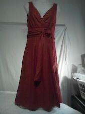 Diana Ferrari Ladies Vintage Dress in Burnt Orange with a Golden Hue Size 8