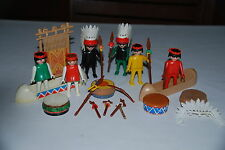 Playmobil lote konvolut indios vintage años 70 western oeste