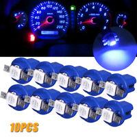 10x T5 B8.5D 5050 1SMD Car Dashboard Dash Instrument Indicator Lights LED Bulbs