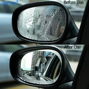 2 Pcs Car Mirror Window Clear Rearview Mirror Protective Film Waterproof Sticker