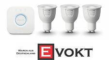 Philips Hue White & Color Ambiance Starter Kit GU10 1 Bridge + 3 Bulbs Genuine