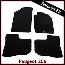 PEUGEOT 206 CC 1998 - 2007 2008 2009 2010 1-Clip MONTATO SU MISURA MOQUETTE TAPPETINI AUTO