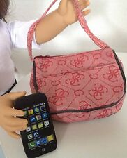 "Purse & Smart Phone for American Girl Doll 18"" Accessories SET Red"