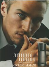 PUBLICITÉ PAPIER PARFUM   - ADVERTISING PAPER MANIA D'ARMANI