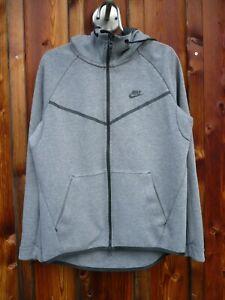 NIKE tech fleece - Kapuzenjacke in dunkelgrau - zip-hoody - Jacke - Größe M