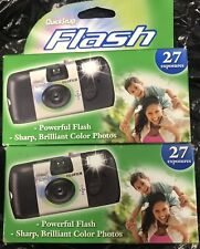 (2) Fujifilm QuickSnap Flash - 27 Pics ea. 35mm One Time Use Exp 4/19, 1/21