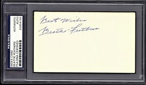 Beattie Feathers Signed Autographed Bears 3x5 index card Died 1979 + PSA/DNA COA