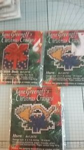 Job lot Counted cross stitch kits Jane Greenoff's christmas crackers preowned