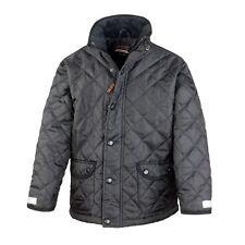 Result Boys Girls Cheltenham Jacket Black Navy Horse Racing Coat Quilt Padded BN Black 5 to 6