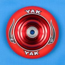 YAK Scooter Wheel 100mm Red w/ Bearings - Razor Lucky District Phoenix