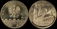 Pologne. 2 Zloty. 2005 (Pièce KM#Y.529 Neuf) Ville historique Wloclawek