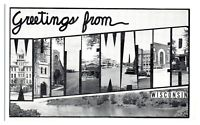 Mid-1900s Greetings from Whitewater, WI Postcard