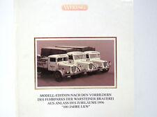 3 LKW,Dreirad,WARSTEINER 1996 anl. 100 Jahre LKW,SoMo,WiKING,1:87,für H0,OVP,HB