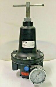 "Parker R119-08CG/M2  Air Regulator 1"" Range 0-125 psi Max 300 psi w Gauge"