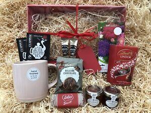 Female Birthday Thank You Garden Gift Hamper Seeds Mug Tea Coffee Lindt Jams