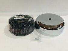 "K&N Custom Air Cleaner Assembly 36-38mm Mikuni Carb 6"" Air Filter Chrome Harley"