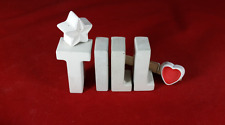 Beton, Steinguss Buchstaben 3D Deko Namen TILL als Geschenk verpackt!