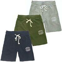Pantaloni corti uomo sport cotone jersey pantaloncini bermuda blu verde e grigio