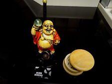 Laughing Buddha Ceramic Smoking Pipe +Grinder 5 screens < no Glass  (PM 1651+ G)