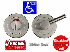 DISABLED INDICATOR BOLT CAVITY SLIDER TOILET SLIDING DOOR LOCK AS1428.1