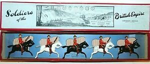 Pre-War BRITAINS 1930s Lead, North West Mounted Police, 5 Piece Boxed Set #1349