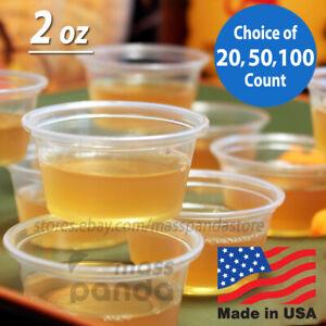 2 oz Dart Medium Clear Plastic Disposable Jello Shot Portion Cups, BPA Free