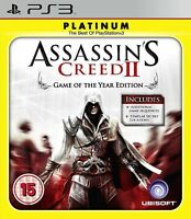 ASSASSINS CREED II GAME OF THE YEAR PLATINUM PS3 PlayStation 3 Game New Sealed