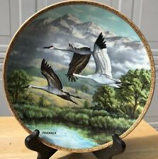 W S George Decorative Bird Plate - Whooping and Sandhill Cranes - James Faulkner
