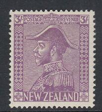 NEW ZEALAND KGV Scott 183 SG467 - 3/ mauve - mounted mint