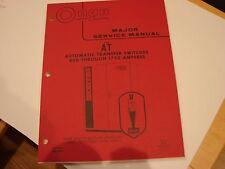 Onan AT Switch 800 Through 1750 Amperes Service Manual 962-0502