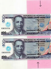 PHILIPPINES 2013 IGLESIA NI CRISTO Logo Over Print KS000004+5 NGC Error UNC Pair