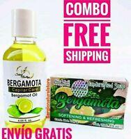 1 BERGAMOTA OIL 4.05 oz. + 1 JABON DE BERGAMOTA OIL SOAP 3.5 oz. FREE SHIPPING