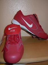 NEW NIKE AIR MEN BASEBALL SNEAKERS SHOES CLEATS SZ 16 RED/ WHITE GRAY ACCENT