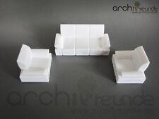 3er Set Modell Sofa Set für Modellbau 1:50, Modelleisenbahn Spur 0