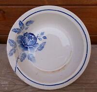Antico piatto in ceramica modello ROSINE,decorazione floreale,arte popolare,