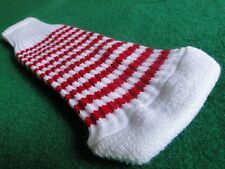 New knitted zebra style Fairway & Driver club head cover White / Red