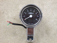 Custom World Black Face Tach with 1 inch Mount #05-395
