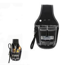 9 In1 Waist Pocket Tools Belt Pouch Bag Screwdriver Kit Holder Tool Bag Black
