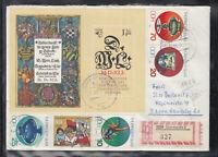 GDR DDR Brief Eischreiben mit - Sonder- SbR-Zettel 327 / 5230 Sömmerda 2/ 1983