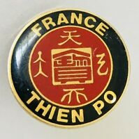 Thien Po Pin Badge Advertising France Vintage (C3)
