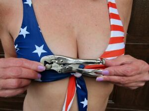 NEW (NOS) Petersen Dewitt 4LW Vise Grip Parrot Head Nut Clamp Locking Pliers USA