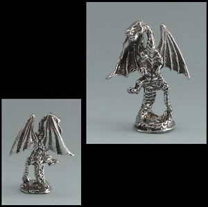 PEWTER FIGURINE #501 DRAGON 3D 35mm high 28mm wide standing on base