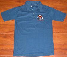 Rare Vtg 70s PRINCETON UNIVERSITY Insignia Navy Polo Shirt Mens Small S